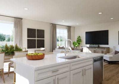 Plan 3 Virtual Model - Kitchen Island and Great Room